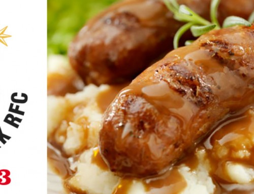 Bangers & mash, plus a pint, £10, on Saturday 14th